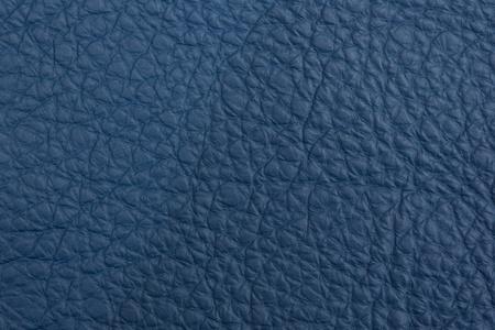 Blue leather macro background