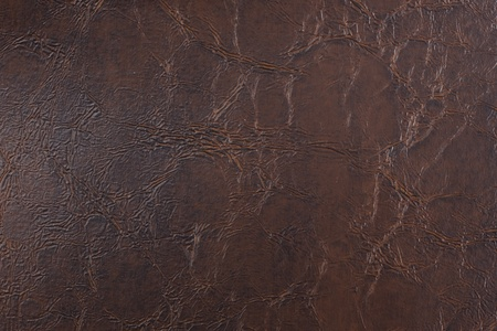 Artificial brown leather background