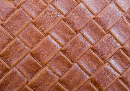 Braided leather background Stock Photo
