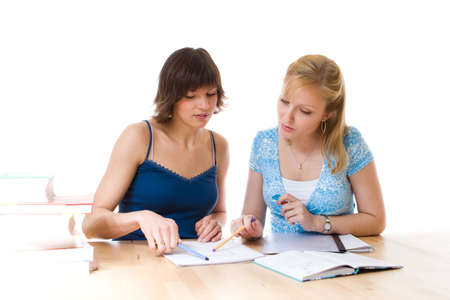 Studying together Stock Photo