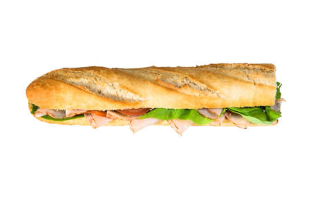 Huge sandwich baguette