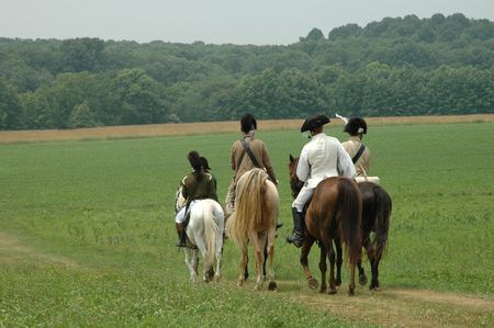 revolutionary war: Horsemen on the road of revolutionary war