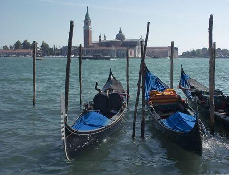 Venice, GandolasMinolta Dimage7 Stock Photo