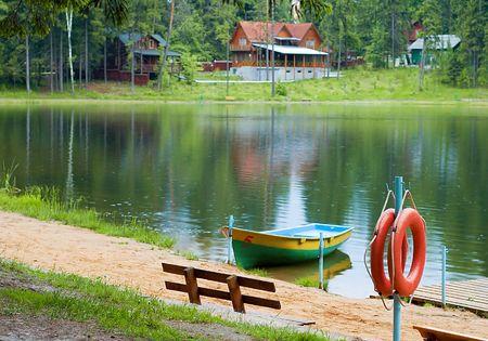 Moscow region, city Zvenigorod, Boating station Stock Photo - 435490