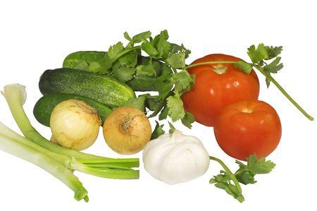 nutriments: Serie: aislados en blanco: el mercado de la jardiner�a de ingredientes, la cebolla,