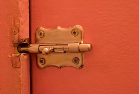 doorlock: Old hause, old metal door catch. lock