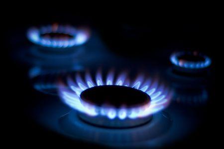 interpretation: Three Gas-ring. night light. gassing, blue