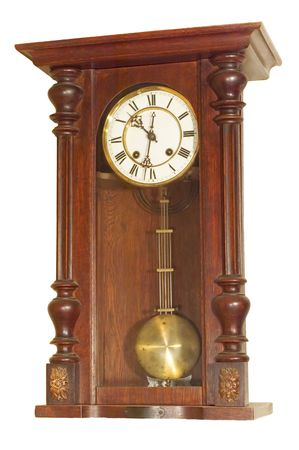 series: isolated on white: Old Antique clock photo