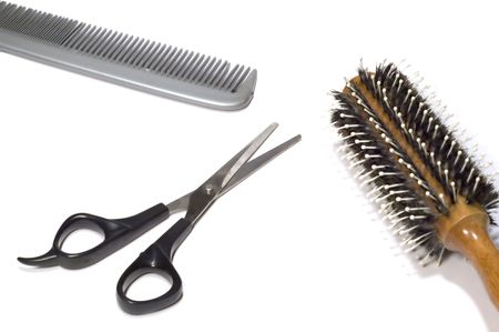 series: isolated on white: hairdressing saloon - accessories Stock Photo