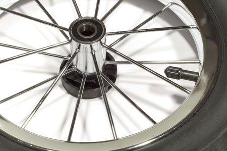spoke: series: isolated on white: Wheel with spoke