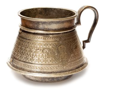 coining: series object on white: isolated -Very old vessel - made in 1660 year in Poland