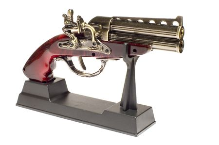coining: series object on white: isolated -Old Gun