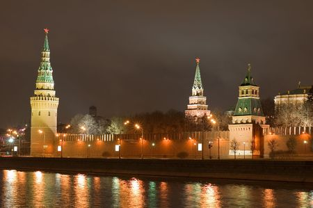 Russia, Centre Moscow, kremlin tower with star photo