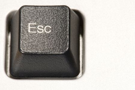 esc: series object on white: isolated - plastic button -Esc