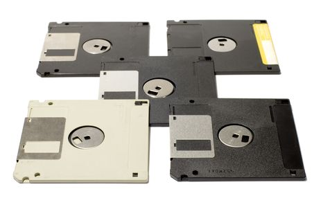 series object on white: isolated - floppy disk photo