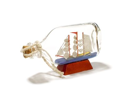 textfield: series object on white: isolated -ship in bottle