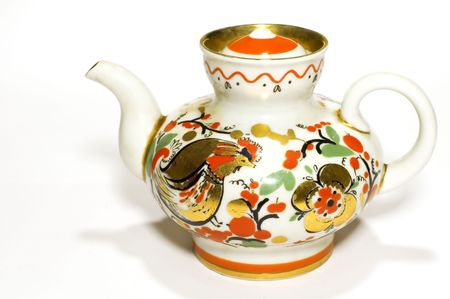 white  russian: series object on white: -Russian teaport Stock Photo