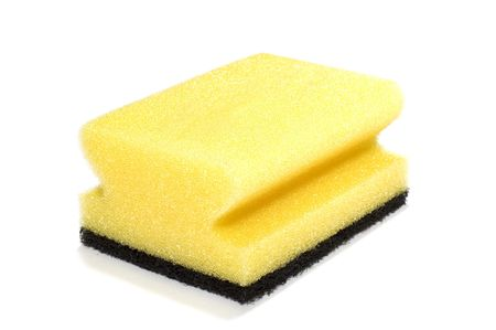 absorb: series object on white: isolated -two-sided sponge