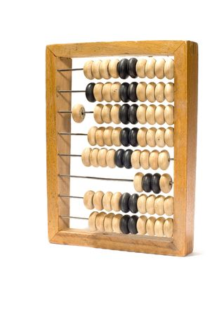 series object on white: isolated abacus photo