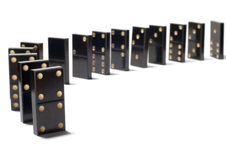 series object on white: isolated -dominoes photo