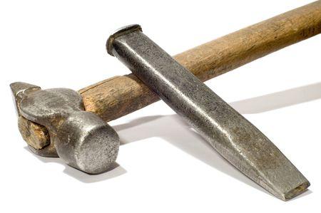cincel: serie objeto en blanco herramienta cincel en fr�o