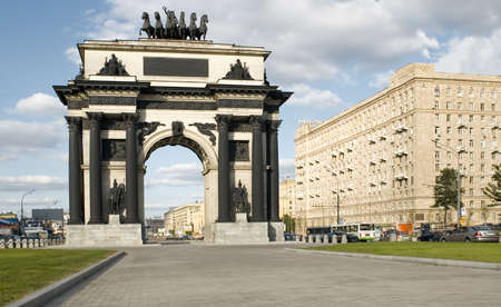 triumphal arch in Moscow city. summer 2007 year
