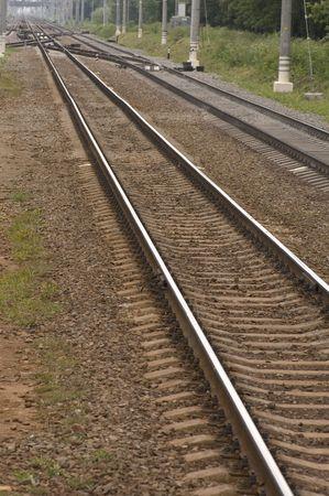 transpozycji: T-węzła kolejowego w lesie