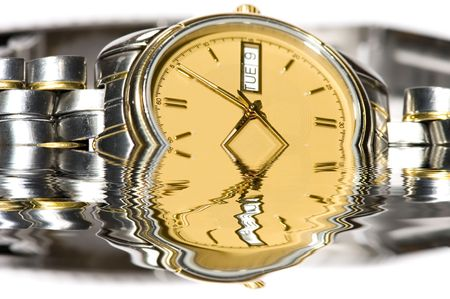 mans watch: serie objeto en blanco - cerca Mans ver -