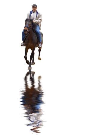 horseman: isolatedon su bianco - Horseman,