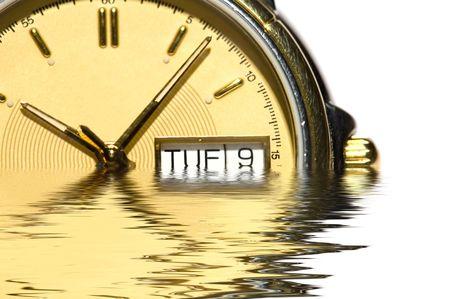 mans watch: serie de objetos sobre blanco - cierre-Mans reloj Foto de archivo