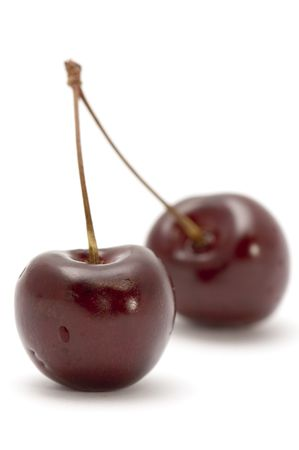 series object on white - food cherry
