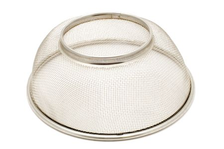 bolter: series object on white - kitchen utensil -sieve Stock Photo