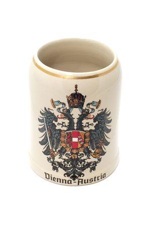 boozer: series object on white Austrian beer mug Stock Photo