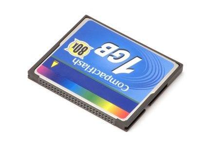 series object on white - Compact Flash memory card photo