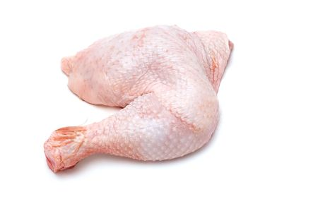 soggy: series object on white - food - chicken leg