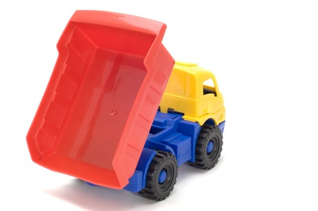 trucker: series object on white - toy truck