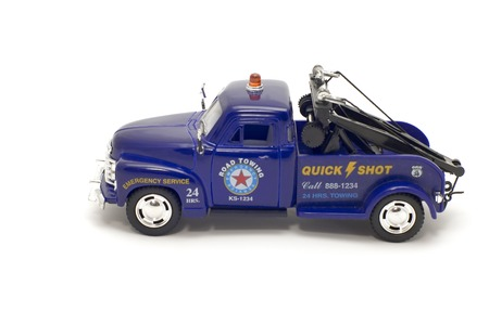 bulk carrier: series object on white - toy - towing truck