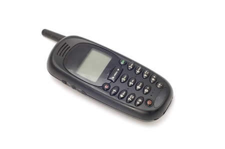 series object on white - Old mobile phone Stock Photo - 1424355
