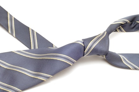 hanky: series object on white - fashion - Grey tie Stock Photo