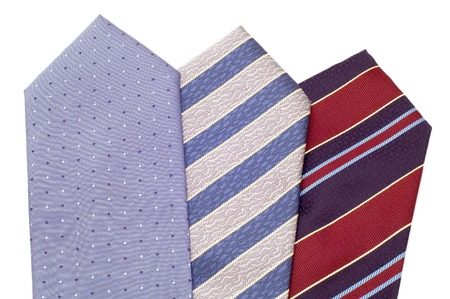 series object on white - fashion -  tie photo