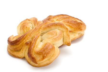 series object on white - food - pastry filled with custard