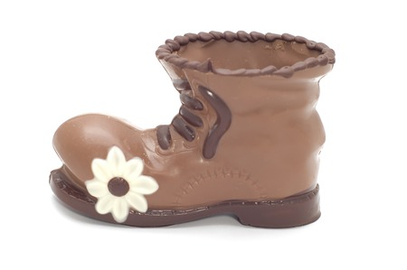 possesses: series object on white - food- chocolate boot