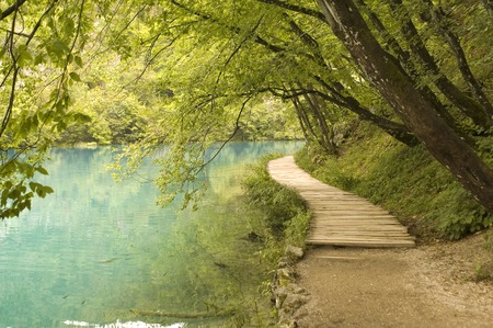 landscape nature park in Croatia - lakeside photo