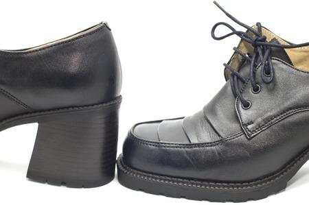 footgear: series object on white - foot-gear high-heeled Stock Photo