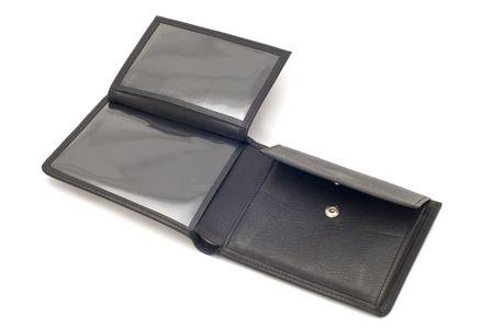 series object on white - Black purse photo