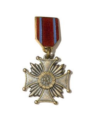finalistin: Serie Objekt auf wei� - Schild - Old-Medaille