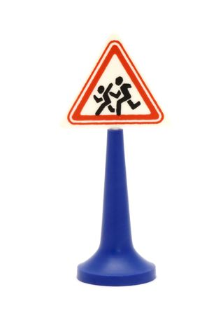 series object on white - road sign on white Stock Photo - 1895838