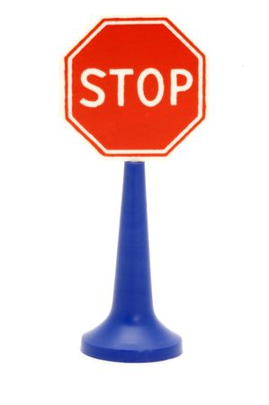 series object on white - road sign on white Stock Photo - 1907633