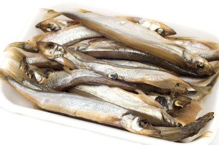 sprat: series object on white - food - fish - sprat