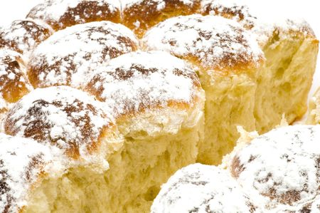 dainty: series object on white - food - baking on white Stock Photo